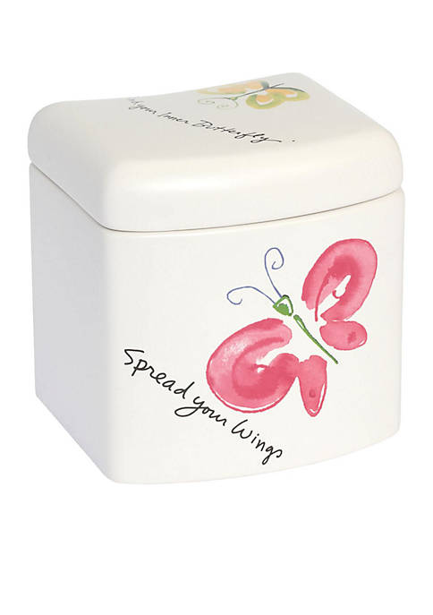Creative Bath Flutterby Covered Jar