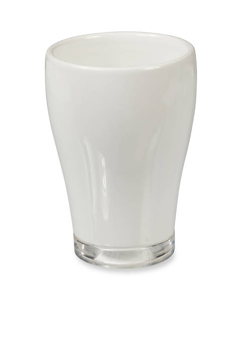 Creative Bath GEM White Tumbler 3.12-in. x 3.12-in.
