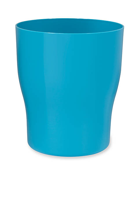 GEM Turquoise Wastebasket 8.5-in. x 8.5-in. x 10-in.