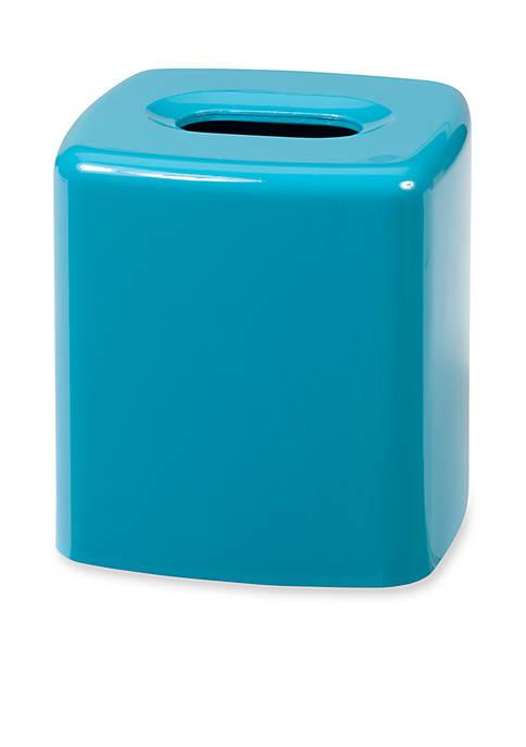 GEM Turquoise Tissue Box 5.5-in. x 5.5-in. x 5.5-in.