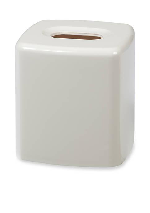 Creative Bath GEM White Tissue Box 5.5-in. x