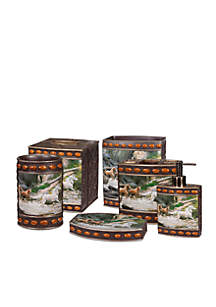Horse Canyon By Hautman Brothers Bath Accessories 6-Piece Set