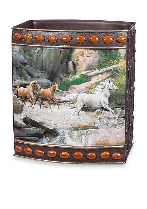 Creative Bath Horse Canyon By Hautman Brothers Wastebasket
