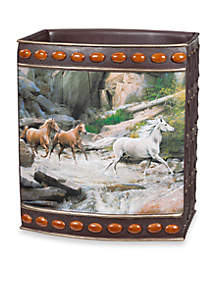Horse Canyon By Hautman Brothers Wastebasket