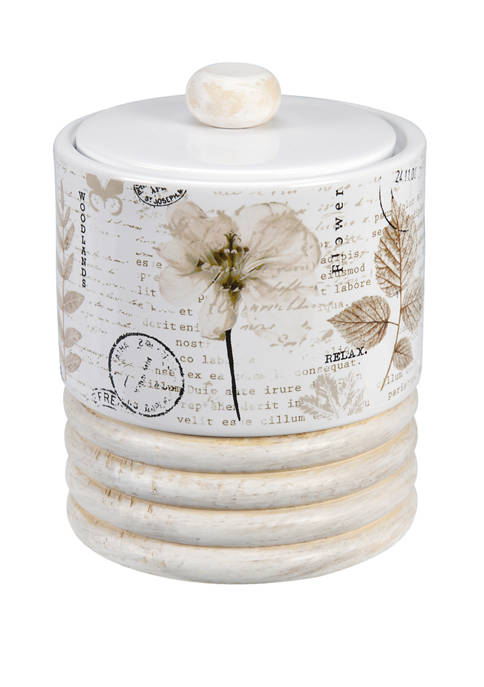 Pressed Leaves Jar