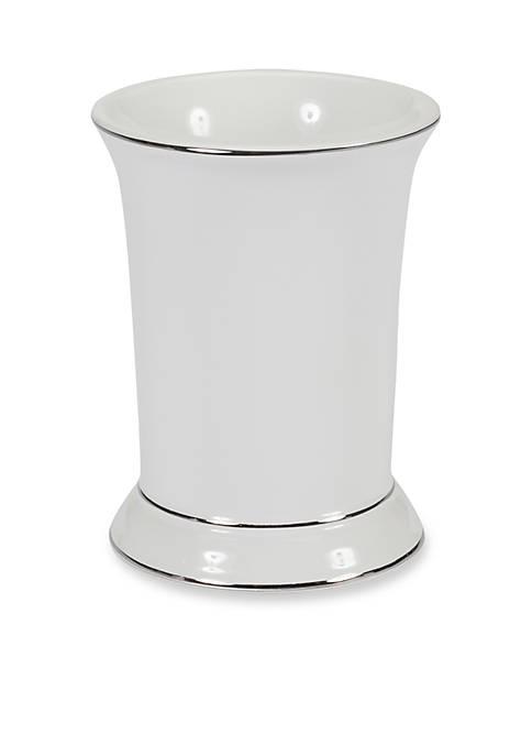 Creative Bath Regency White Tumbler 3.75-in. x 4-in.