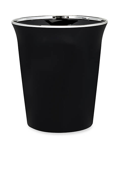 Creative Bath Regency Black Wastebasket 9.1-in. x 9.-in.