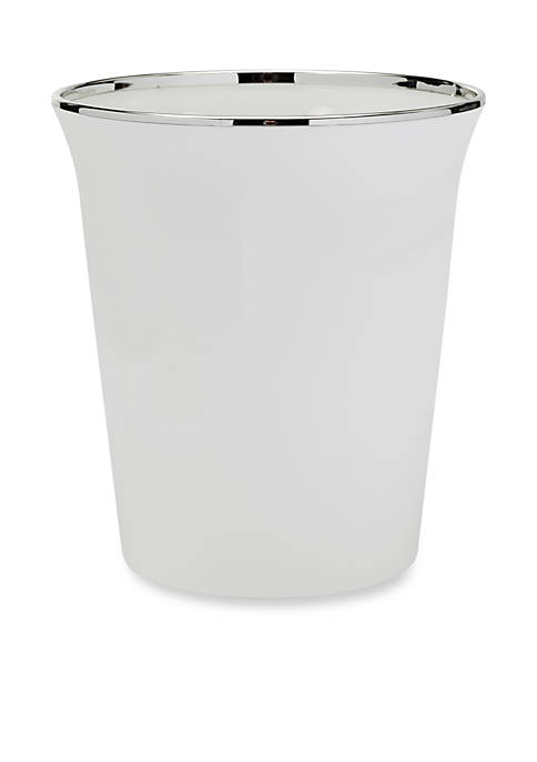 Creative Bath Regency White Wastebasket
