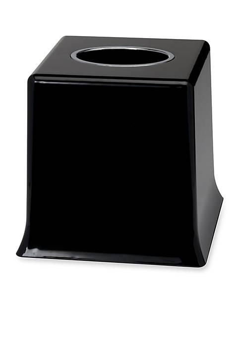 Creative Bath Regency Black Tissue Box 6-in. x