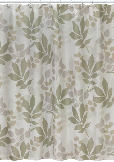 Creative Bath Shadow Leaves Shower Curtain