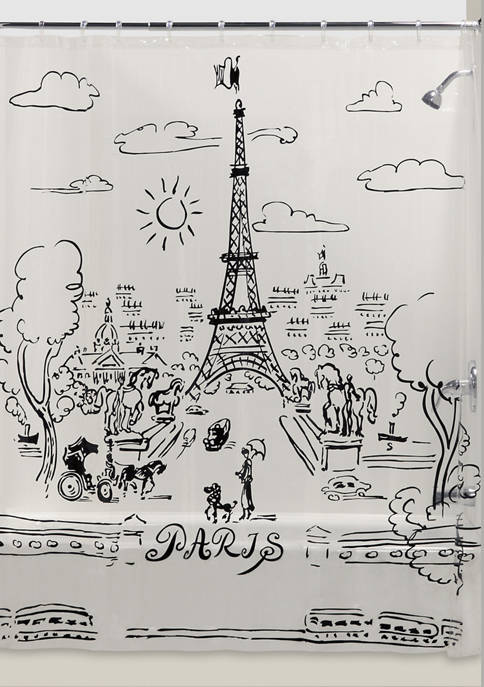 Paris Days Shower Curtain