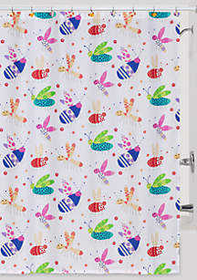 Cute As A Bug Shower Curtain And Hooks