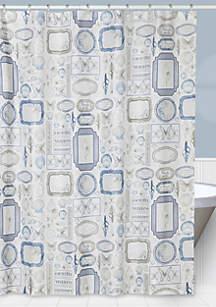 Seaside Shower Curtain and Shower Hooks