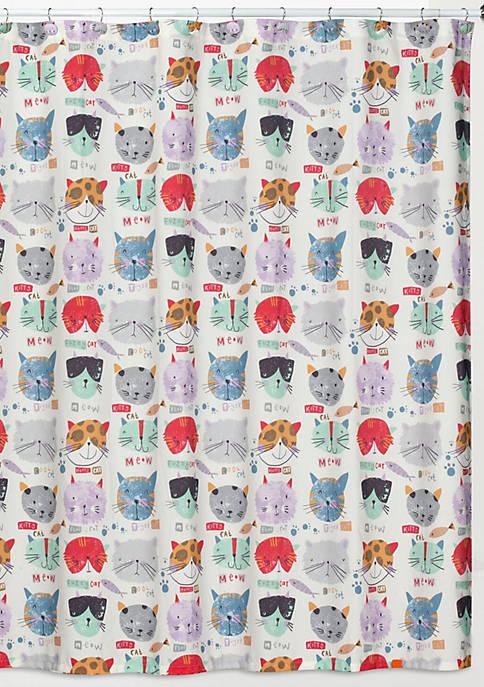 Creative Bath Kitty Shower Curtain