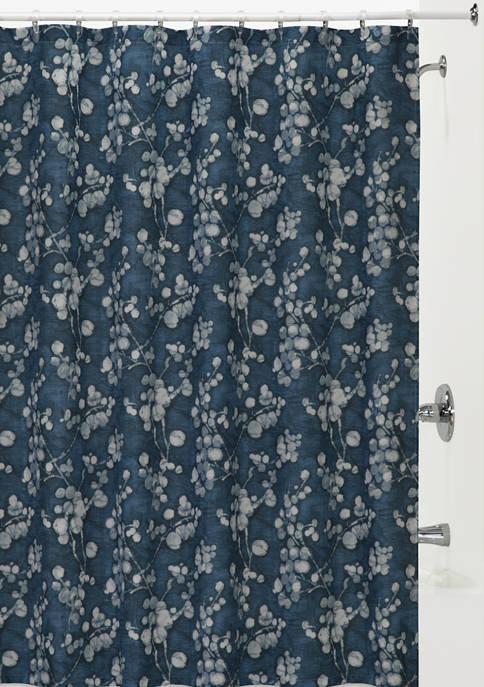 Indigo Blossom Shower Curtain