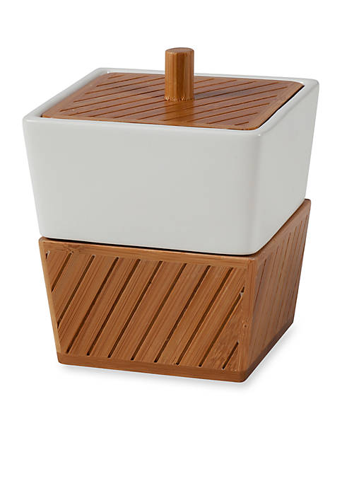 Spa Bamboo Ceramic Jar