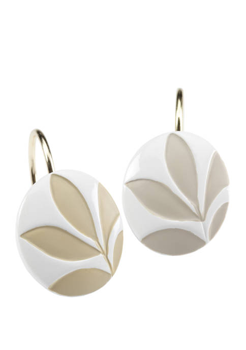 Set of 12 Shadow Leaves Shower Curtain Hooks