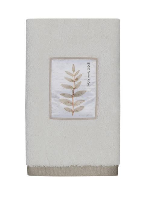 Pressed Leaves Fingertip Towel