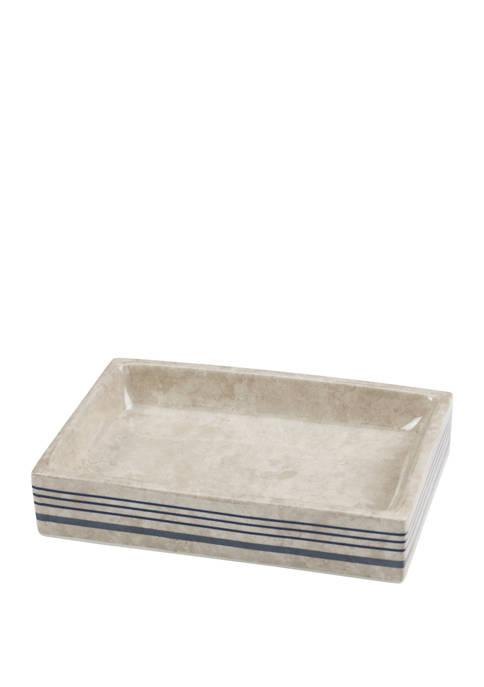 Ticking Stripe Soap Dish