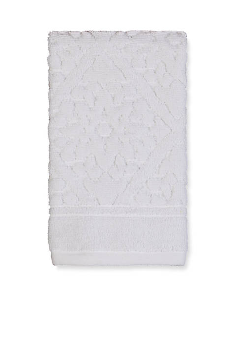 Belle White Fingertip Towel 11-in. x 18-in.