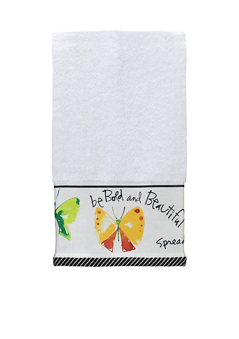 Creative Bath Flutterby Decorative Hand Towel