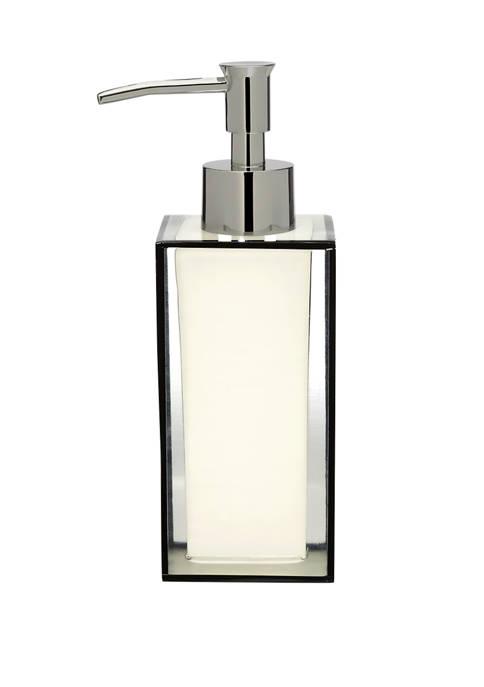 Creative Bath White and Black Lotion Pump