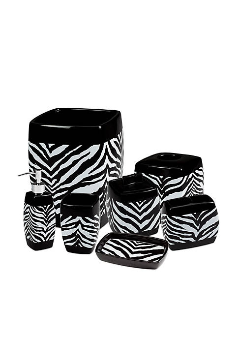 Creative Bath Zebra Bath Accessories 7-Piece Set