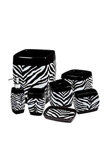 Zebra Bath Accessories 7-Piece Set