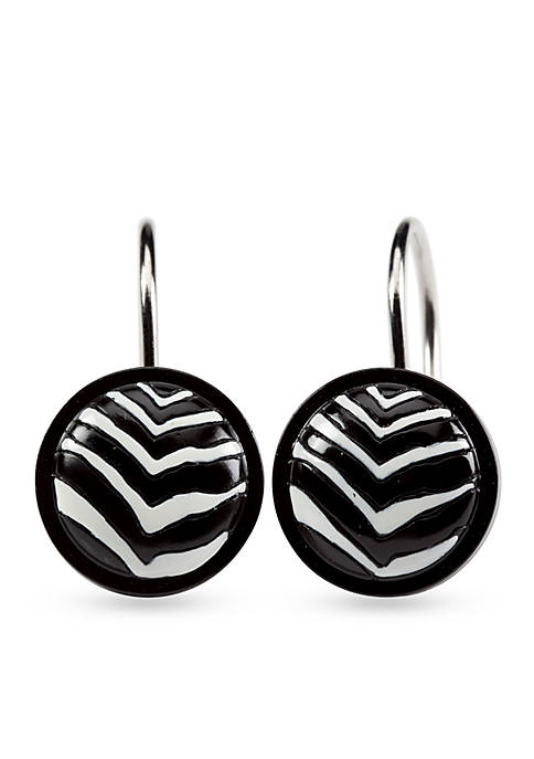 Creative Bath Zebra Shower Curtain Hooks
