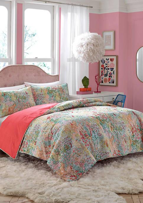 Lady Pepperell Secret Garden Quilt Set