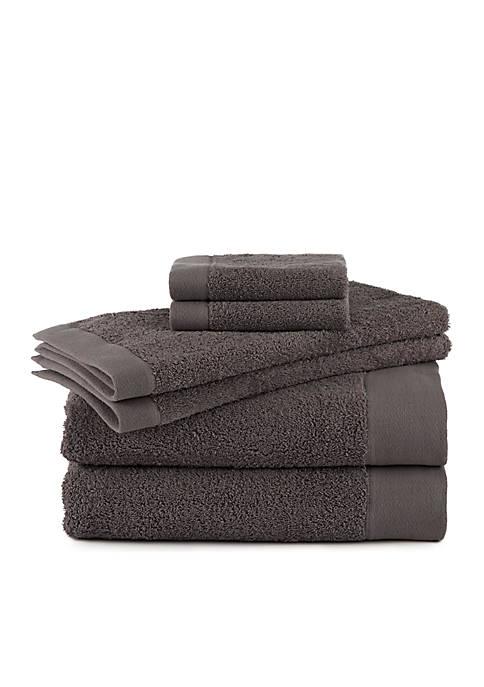 FlatIron Terry Flax 6-Piece Towel Set