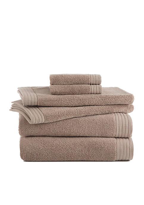 Grand Patrician Turkish Luxury 6-Piece Towel Set
