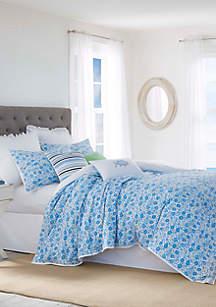 3-Piece Laurel Falls Twin Blue Comforter Set