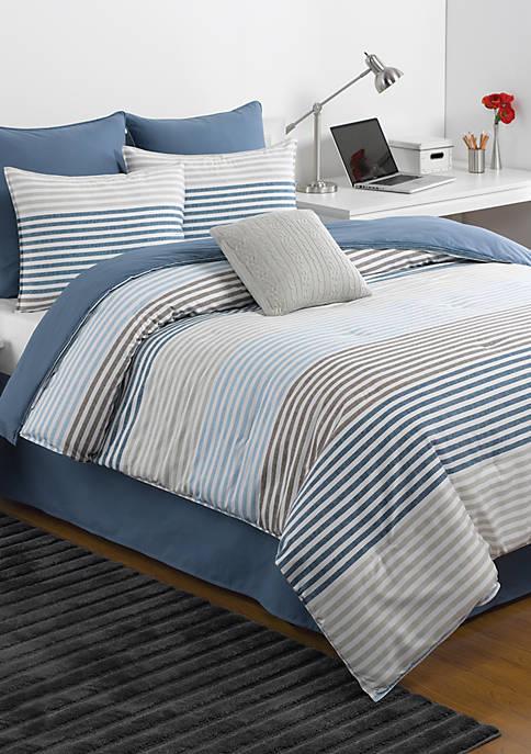 Chambray Stripe Comforter Set