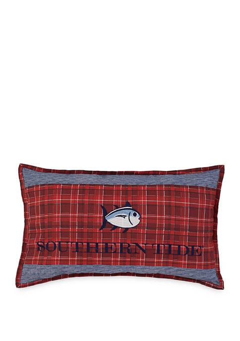 Croatan Skipjack Embroidered Throw Pillow