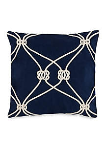 Royal Pine Rope Knot Throw Pillow