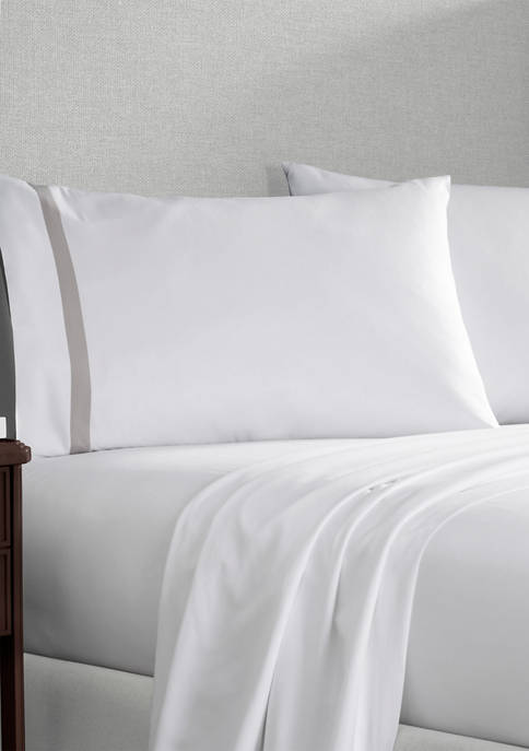 Martex Luxury 200 Hotel Pillowcase Pair With Contrast
