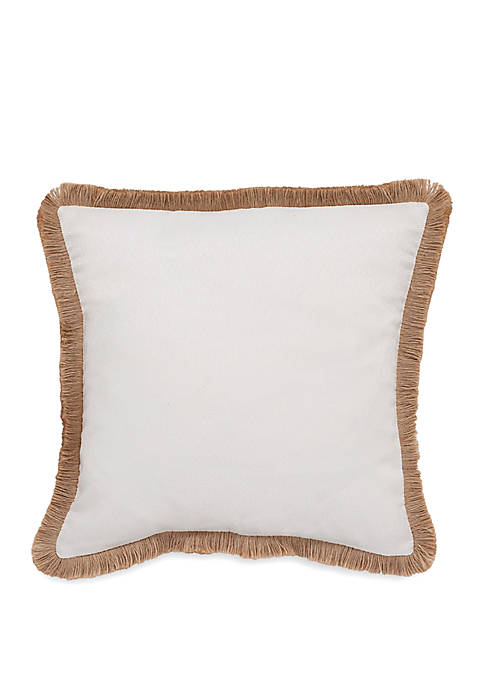 Southern Tide® Sandbar Square Trim Decorative Pillow