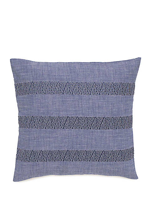 Bayview Embroidered Band Throw Pillow