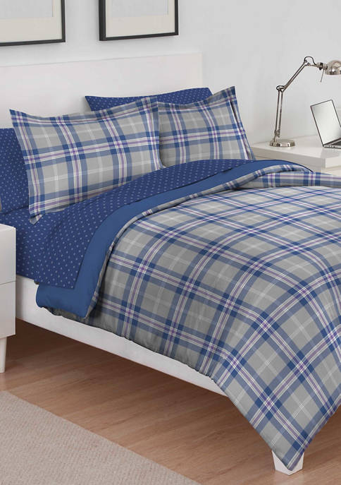 Brights Bryon Plaid Comforter Set