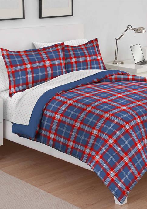 IZOD Brights Bryon Plaid Comforter Set