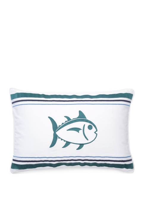 Satin Stitch Throw Pillow