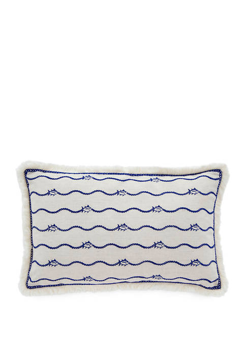 Southern Tide® Bayside Embroidered Skipjack Decorative Pillow