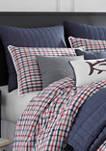Folly Beach Chambray Whipstitch Decorative Pillow