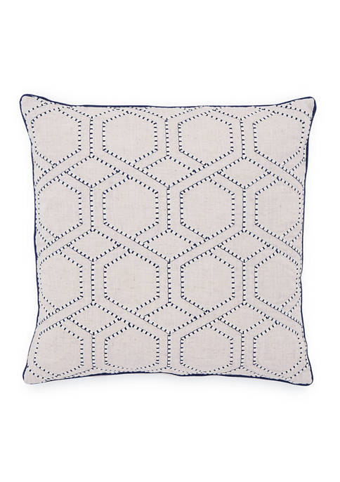 Geometric Embroidered Pillow