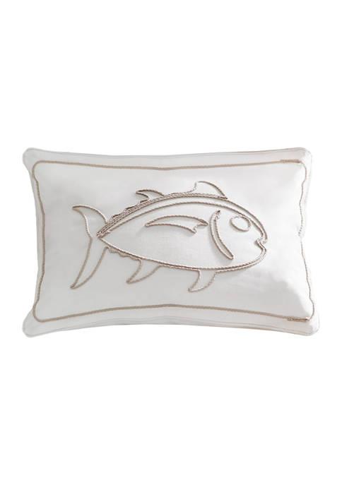 Palmetto Dunes Rope Appliqué Decorative Pillow