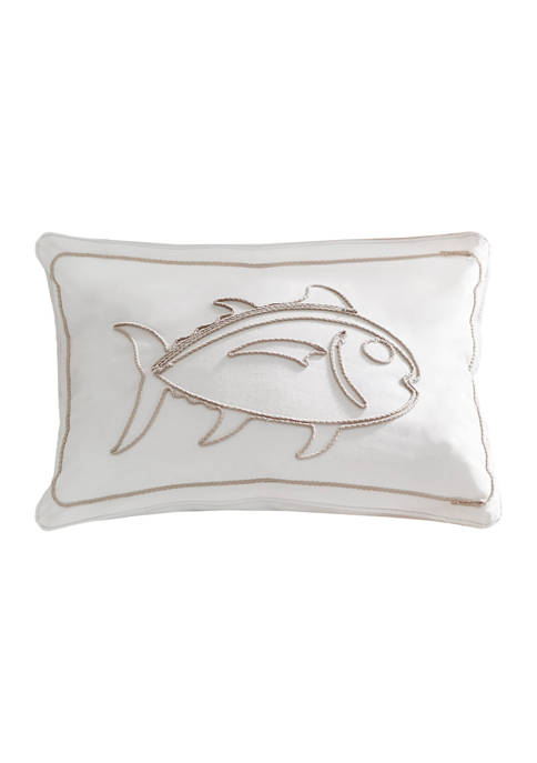 Amy Sia Palmetto Dunes Rope Applique Decorative Pillow