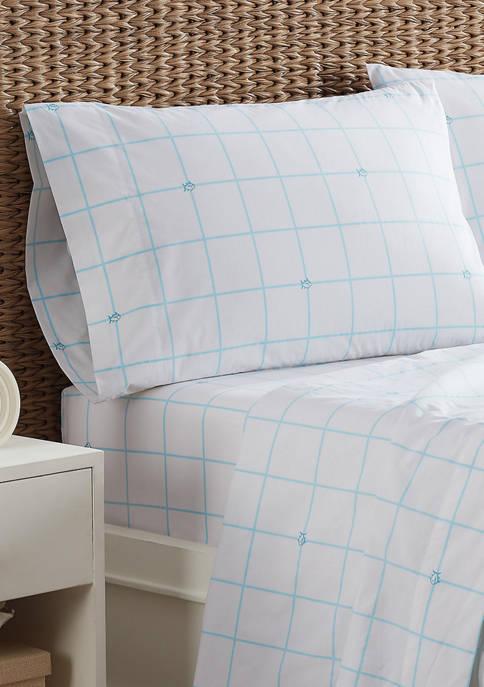 Shipjack Windowpane Standard Pillowcase Set