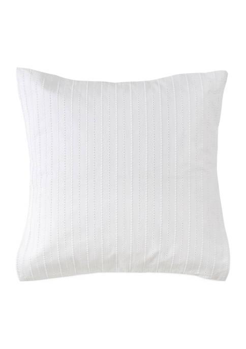 Eyelet Square Decorative Pillow