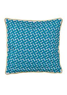 Grandiflora Blue Floral Decorative Pillow 12-in. x 12-in.